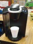 The kiddos were enamored with the Keurig!