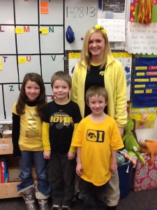 Abbi, Cole, Curtis and Miss Jessica sporting their black and gold!