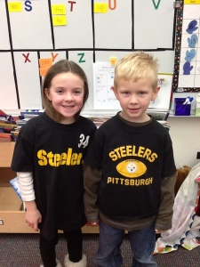 Tristan and Madelynne are Pittsburgh fans....and maybe a little Hawkeye:)