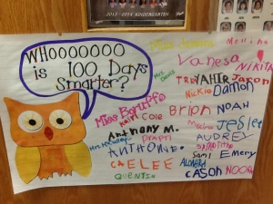 Whoooo is 100 Days Smarter?!?!  WE ARE!