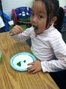 Nickie LOVED her green eggs:)